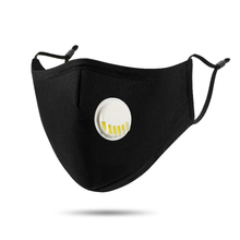 Gaea Anti Virus PM2.5 Mask Dust-proof Breathable Cotton Washable Black with Breather Melt-blown Cloth