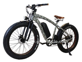 New fat tire electric bike with camouflage color