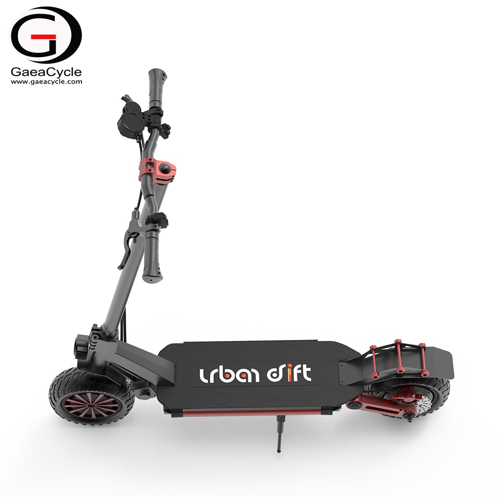 Dual 800w Motor Electric Off Road Scooter Foldable Kick Scooter Folding 10inch Kick Escooter from China